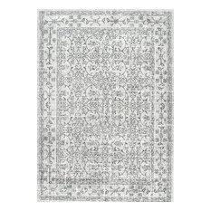 nuloom medieval tracery floral rug gray