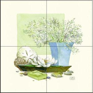 Rikki Knight Van Gogh Art Pink Peach Tree Blossom Design Ceramic Art Tile 12 x 12