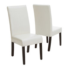 Makenzie Contemporary T-Stitch Upholstered Dining Chairs (Set Of 2)