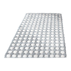 Great Silver Machine Washable Cotton Bathroom Rug, Merida, Extra Large   Bath Mats