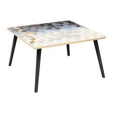 Mason Flare Coffee Table - Midnight Gold Deco