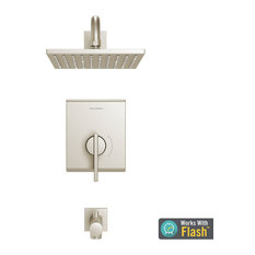 Times Square Tub and Shower Trim Kit With Cartridge, Brushed Nickel