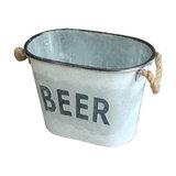 """Metal """"Beer"""" Ice Bucket"""