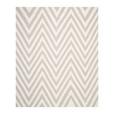 Safavieh Dylan Dhurrie Rug, Gray and Ivory, 8'x10'