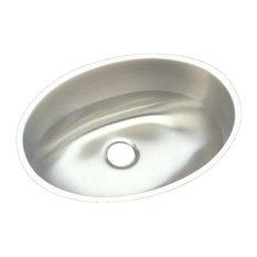 Elkay Asana Stainless Steel Single Bowl Undermount Bathroom Sink, Lustrous Satin