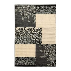 """Transitional 120""""x96"""" Rectangle Area Rug, Gray"""