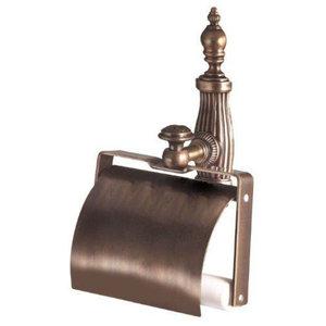 Ondine Bronze Toilet Roll Holder With Lid