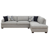 Pemberly Row Marley Cloud Gray Sofa Right Facing Sectional