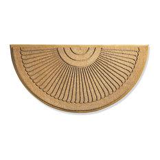 """Sunburst Brush Doormat, Natural and Beige, 36""""x72"""""""