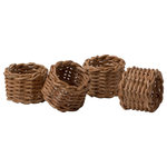 Blue Pheasant - Hampton, Honey Rattan Napkin Rings, Set of 4 - A unique take on dining combines iconic American and European elements into a feel-good collection.