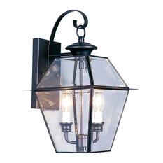 Westover Outdoor Wall Lantern, Black