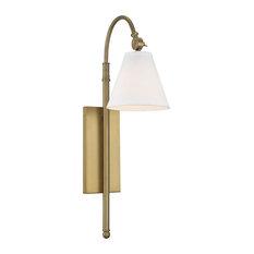 Rutland 1-Light Sconce, Warm Brass