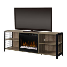 Dimplex - Dimplex Asher Media Console Electric Fireplace With Glass Ember Bed - Entertainment Centers and Tv Stands