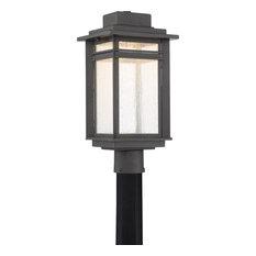 Beacon Outdoor Post Lantern, Stone Black, Extra Large