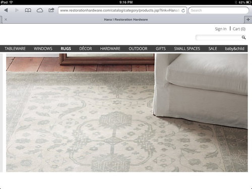 Where Can I Find A Similar Version Of This Restoration Hardware Rug