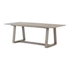 Atherton Grey Teak Outdoor Dining Table 87""