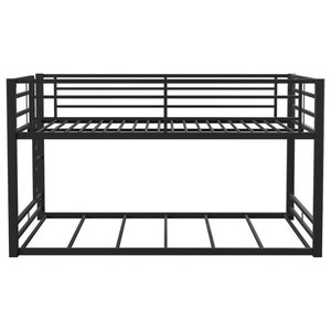Heavy Metal Black Full Over Full Bunk Bed Contemporary Bunk Beds By Gwg Outlet Houzz