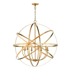 Celeste 8 Light Chandelier in Aged Brass