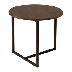 URBN   Dolf Round Side Table, Walnut   Side Tables And End Tables