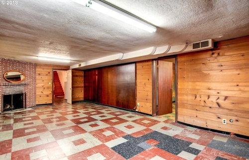 Covering Uneven Asbestos Floors Basement, How To Tile Uneven Basement Floor