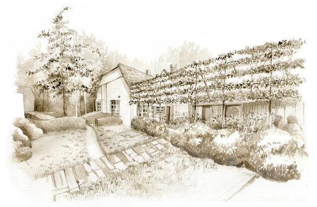 Farmhouse Rendering by Stefano Marinaz Landscape Architecture