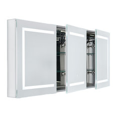 Kent LED Bathroom Cabinet, With Socket, 3-Door
