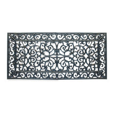 "First Impression Audie Rubber Entry Double Doormat 23.62""x47.25"