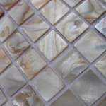 """Bathselect - BST Pearl Shell Wall Tiles For Bathroom 12""""x12"""" Sheet, Priced for 11 Sheets - BS Pearl Shell Wall Tiles For Bathroom"""