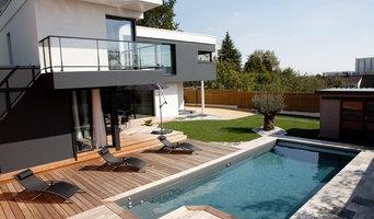 Terrasse ipé à Nantes devant maison contemporaine