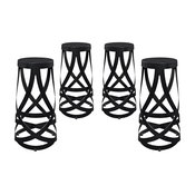 Modway EEI-1361-BLK Ribbon Bar Stool, Set of 4, Black