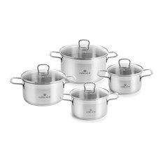 BRAVA Stainless Steel Pot Set With Lids 8 pcs