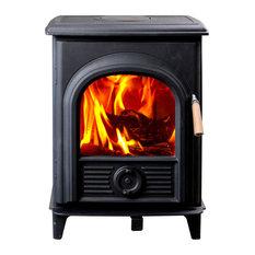 HiFlame Shetland HF905U EPA Approved 800 sq. ft. Wood Stove Black