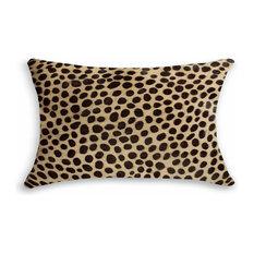 Natural Rugs Torino Cowhide Pillow 12 X20 Cheetah Decorative Pillows