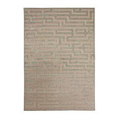 "Rectangle Abacasa Napa Maze Area Rug, Light Blue/Gray, 94""x134"""