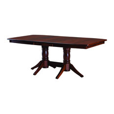 Palettes By Winesburg Boat Shaped Table Top With Evanston Double Pedestal Base