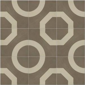 Illusion Pattern Tiles, Warm Grey, Set of 12