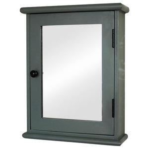 Boudoir Grey Range - Mirrored Wall Cabinet