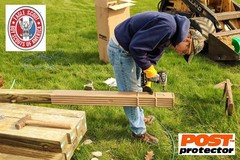 How can you treat wood to be used as fence posts?