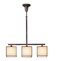 Kobe C3 Steel and Fabric Ceiling Lamp