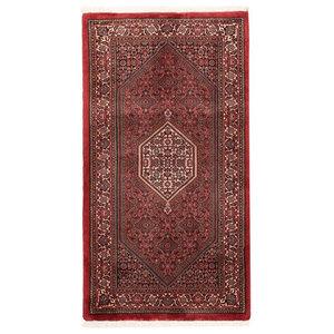 Bijar Tekab Oriental Rug, Hand-Knotted, 136x75 cm