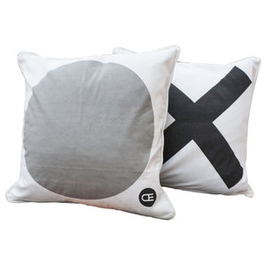 Dido Cushion Covers, Black and Grey, Small, Set of 2