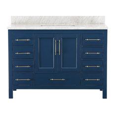 """Kendall Blue Bathroom Vanity, 48"""""""