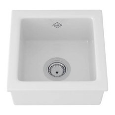 Rohl RC1515WH Single Bowl Undermount Or Drop Kitchen Or Bar Food Prep White