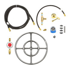 "12"" Double Ring and Complete Deluxe Propane Fire Pit Kit"