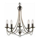 Stylish Maypole chandelier, 5-light