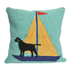 "Frontporch Sailing Dog Pillow, Yellow, 18""x18"""