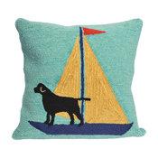 "Frontporch Sailing Dog Pillow, Yellow, 18""x18"""