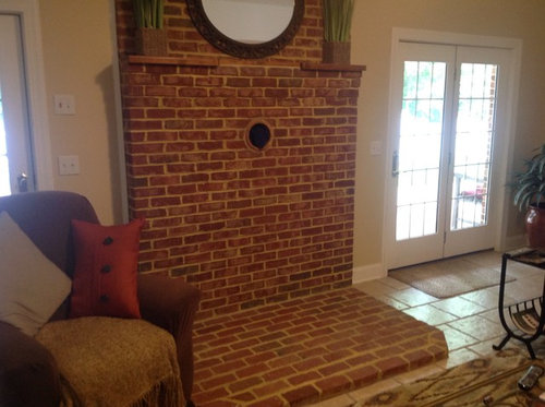We Have Run Gas To The Area And Now Need Ideas For What Do With E Insert Fireplace Perhaps But About Brick Pad On