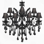 Maria Theresa Chandelier Crystal, Jet Black - Traditional ...
