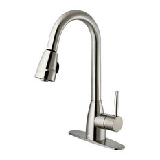 VIGO INDUSTRIES   VIGO Pull Out Spray Kitchen Faucet, Stainless Steel, With  Deck